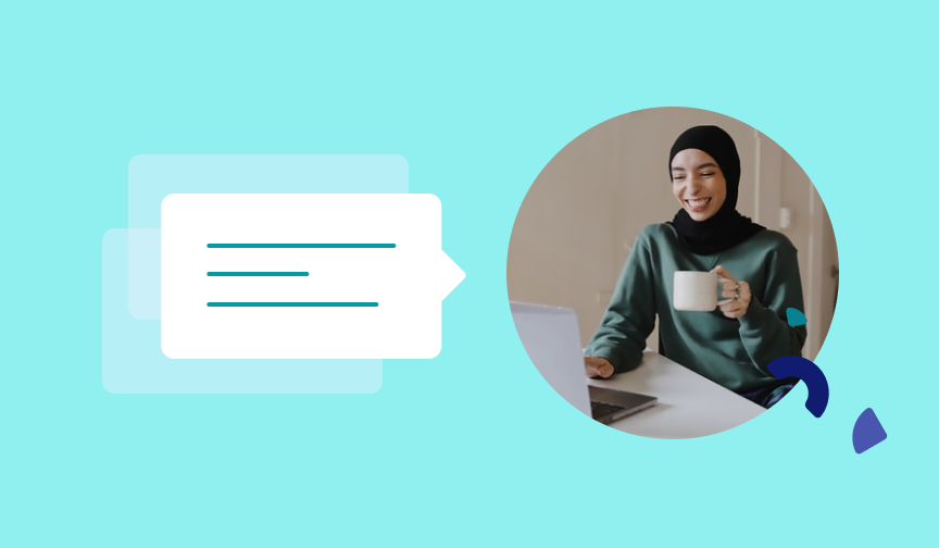 Woman wearing a hijab on a video call